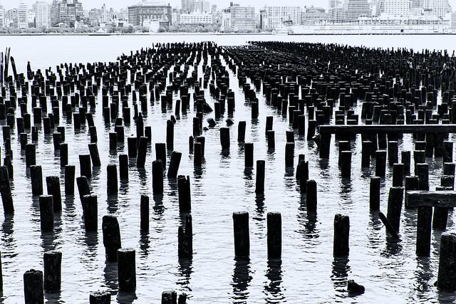 Pilings--Hoboken Piers