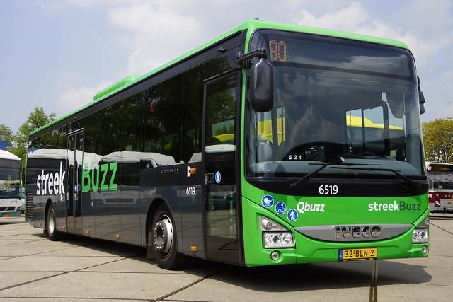 IVECO Crossway LE Qbuzz Streekbuzz 6519 met kenteken 32-BLN-2 in stalling Utrecht 18-05-2019