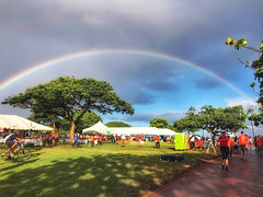 Hawaiian Electric at the 41st annual Visitor Industry Charity Walk — May 18, 2019: What a beautiful rainbow to celebrate such a great day. The charity walk raised over $2.5 million.