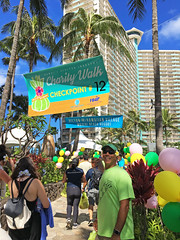 Hawaiian Electric at the 41st annual Visitor Industry Charity Walk — May 18, 2019: The walk had multiple checkpoints stationed throughout the route. A sponsor or vendor would pass out resfreshments, drinks, and swag at each checkpoint.