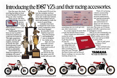 1987 Yamaha YZ80, YZ125, YZ250, AND YZ490 Ad