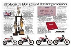 1987 Yamaha YZ80, YZ125, YZ250, AND YZ490 Ad