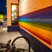 Pride Flag Mural at Nellie's