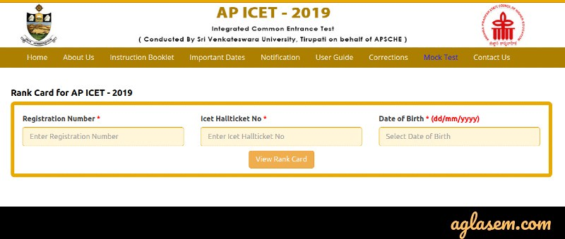 AP ICET 2019 Result (Available) - Download ICET Rank Card