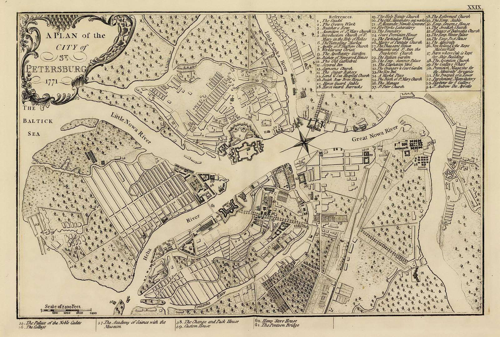 1771. План Санкт-Петербурга