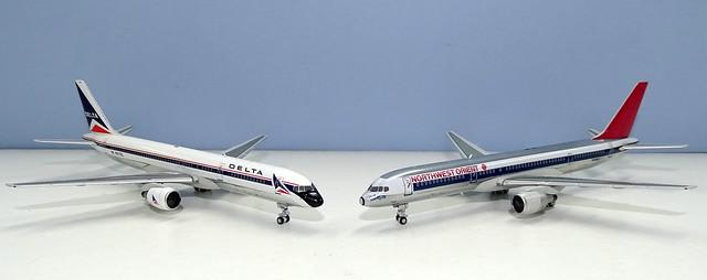 Delta & Northwest Orient Boeing 757-200s