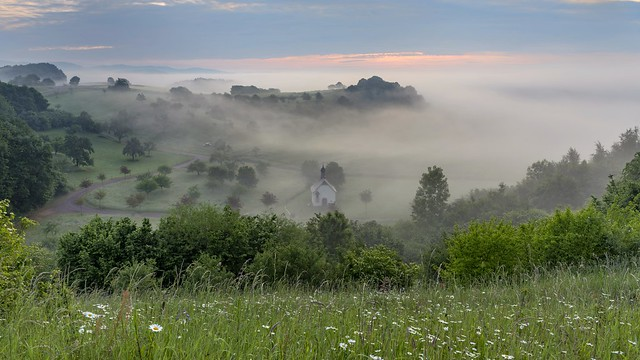 *The chapel in the morning fog*