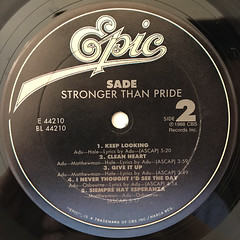 SADE:STONGER THAN PRIDE(LABEL SIDE-B)