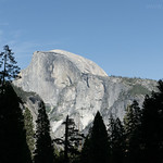Half Dome from Lower Yosemite Fall Trail