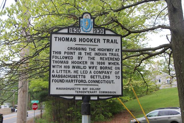 Massachusetts Bay Colony Tercentenary Commission Marker - THOMAS HOOKER TRAIL