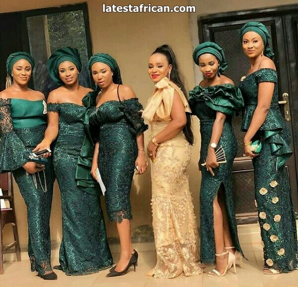 African Wedding Dresses with Umbhaco fabric