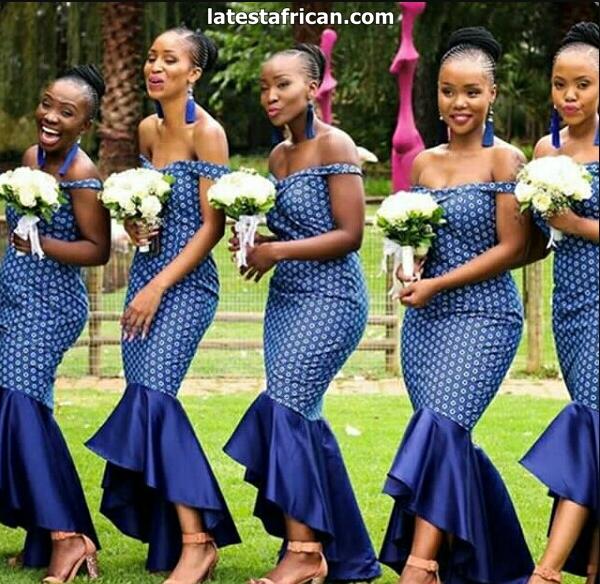 African Wedding Dresses With Shweshwe fabric