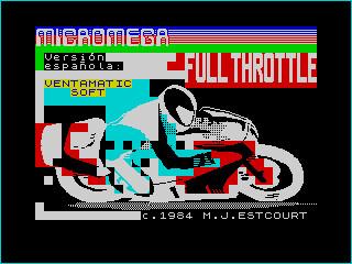 Full Throttle (ZX Spectrum, Ventamatic release) | by Deep Fried Brains
