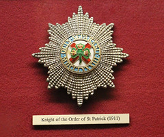 Order of St Patrick awarded to Kitchener 1911
