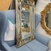 Silver painted wood frame mirror €60