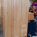Tall three door pine wardrobe E195