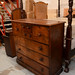 Antique wood unit with drawers