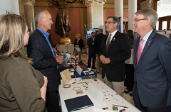 Reps. Fusco and Ackert speak with Connecticut businesses at the Capitol for Manufacturing Day