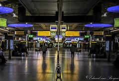 Schiphol Airport at midnight.