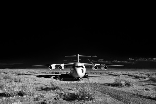 aerospace landscape (infrared). edwards afb, ca. 2012.