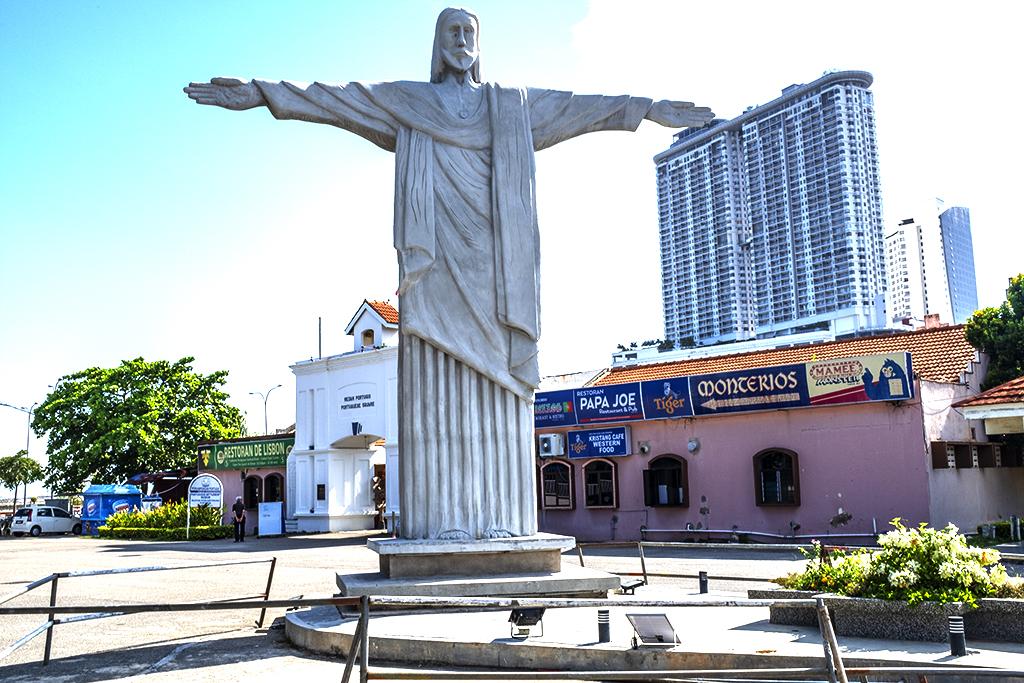 Christ statue at Portuguese Settlement--Malacca