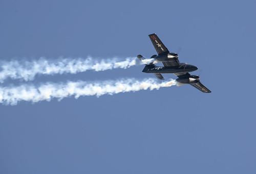 F7F Tigercat Trailing Smoke
