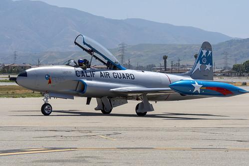 California Air Guard T-33 Taxiing