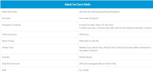 Aakash Live NEET Crash Course