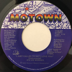 STEVIE WONDER:I JUST CALLED TO SAY I LOVE YOU(LABEL SIDE-B)