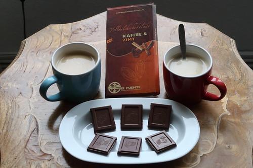 El Puente Vollmilchschokolade Kaffee & Zimt zum Kaffee