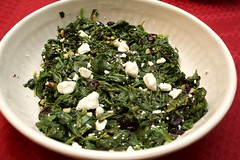 Spinach with Feta and Craisins