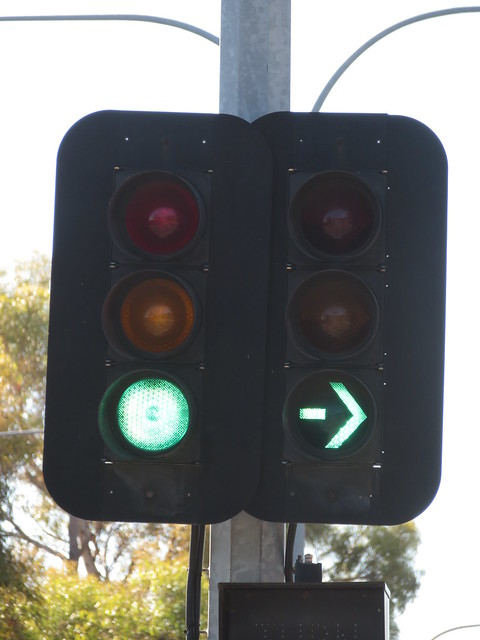 1990s Aldridge Traffic lights on North East Rd/TTP northwest entry road intersection