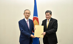 Presentation of LOC by Ambassador of ROK, H.E. Lim Sungnam