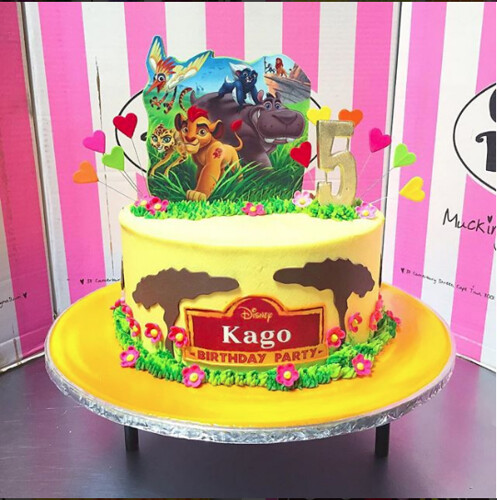 Round Cake With Lion Guard Edible Mounted Photo Poster On Flickr