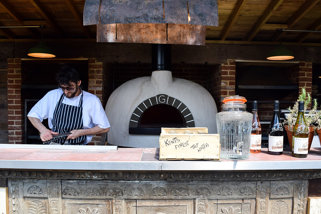 Outdoor Pizza Oven at The Pig Hotel, Bridge