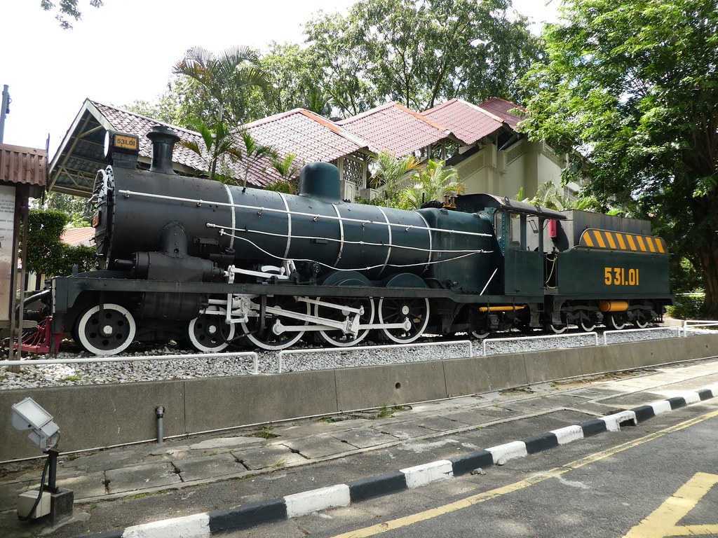 Steam engine outside the the National Museum of Malaysia