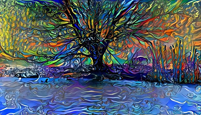Tree by the lake...
