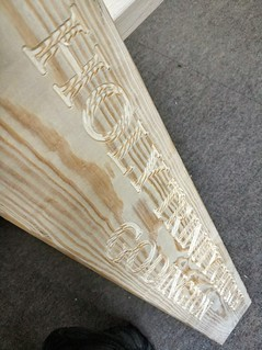 CNC engraving for a church grounds. By Jim on MPCNC.