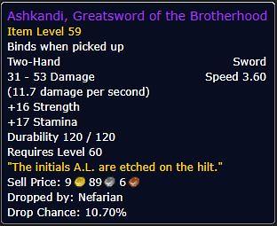 Ashkandi, Greatsword of the Brotherhood