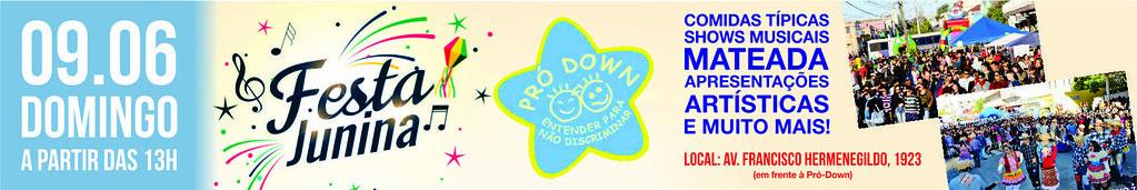 Vem aí a Festa Junina da Pró-Down em São Gabriel. Participe!