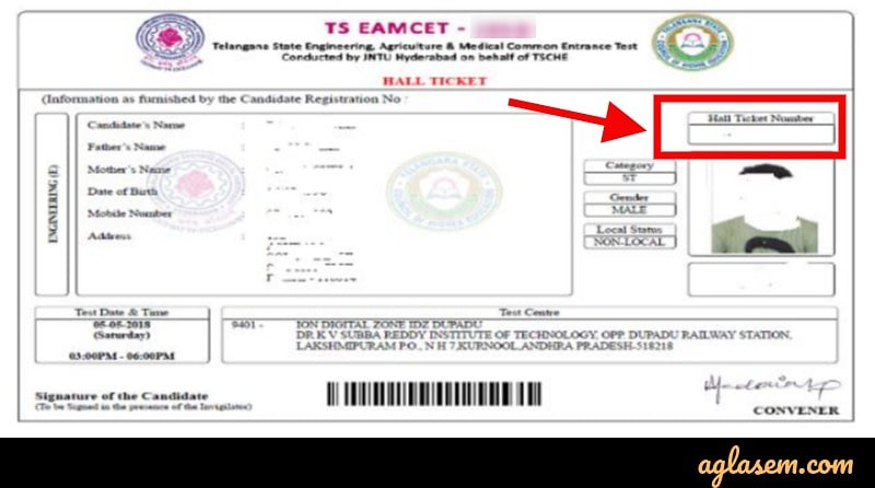TS EAMCET 2019 Result (Announced) - Check at eamcet tsche ac in