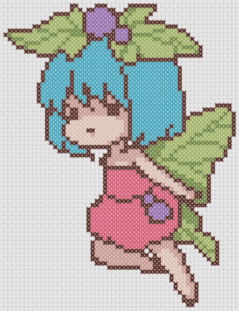 Preview of Fairy Anime cross stitch pattern free
