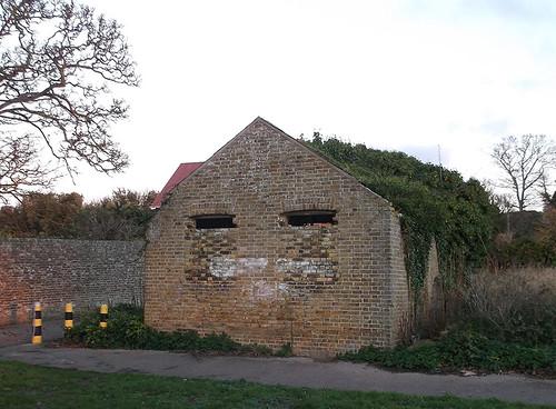 Overgrown barn back