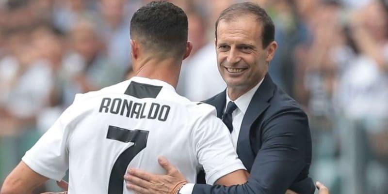 Ronaldo Memuji Kinerja Allegri Sebagai Pelatih Sekaligus Perpisahan Kepada Juventus