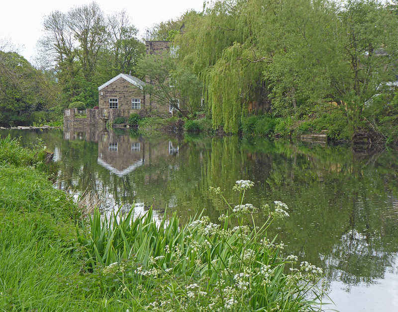 Hirst Mill and River Aire, Saltaire