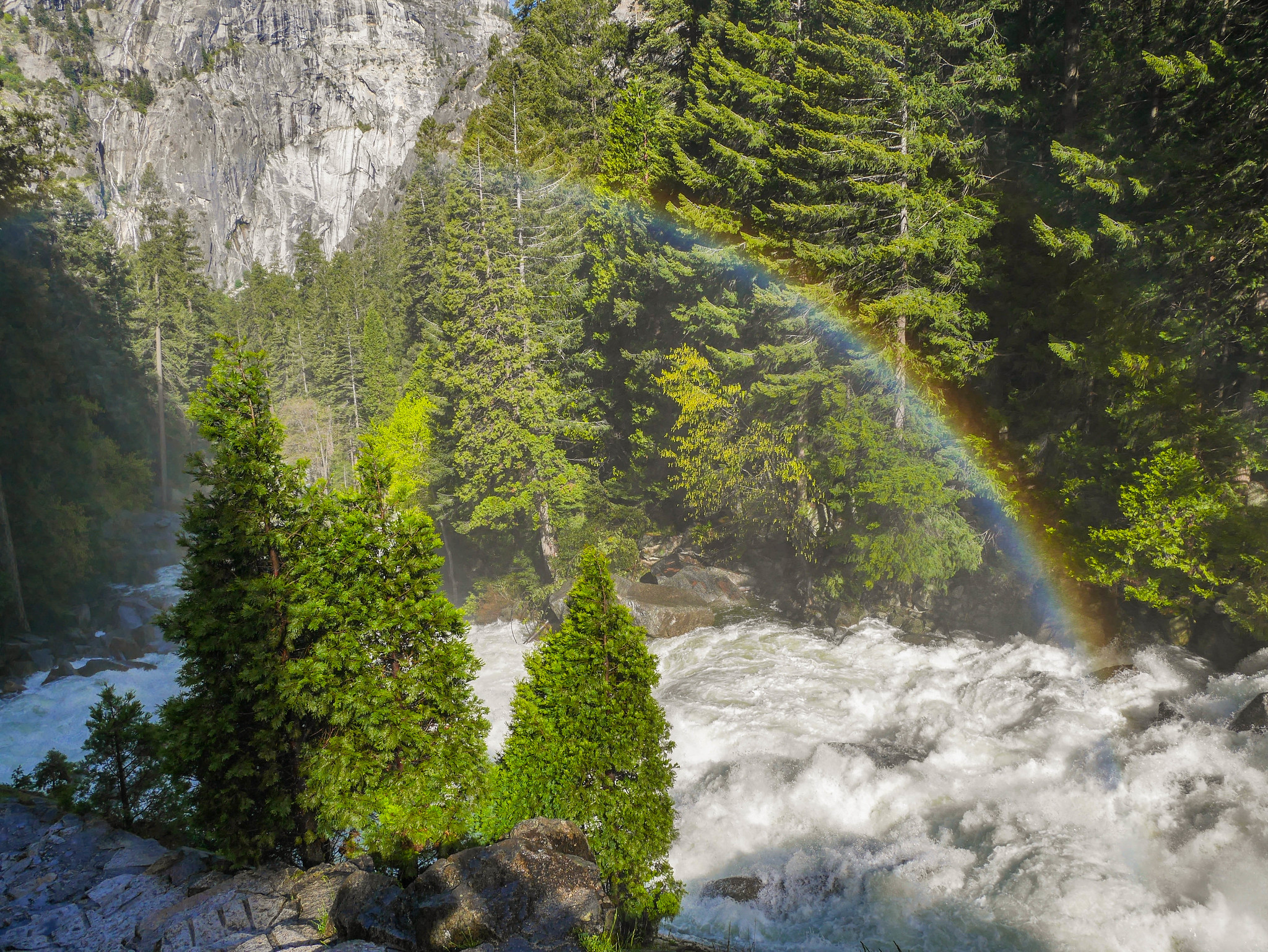 Rainbow below Vernal Falls