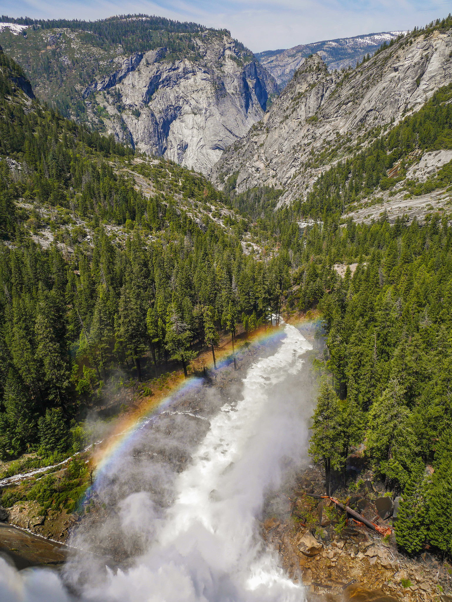 Nevada Fall made some rainbows too