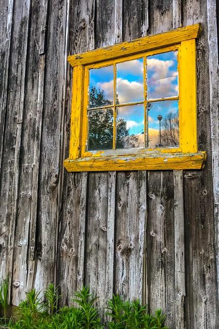 Reflection. Abandoned house, Norway.