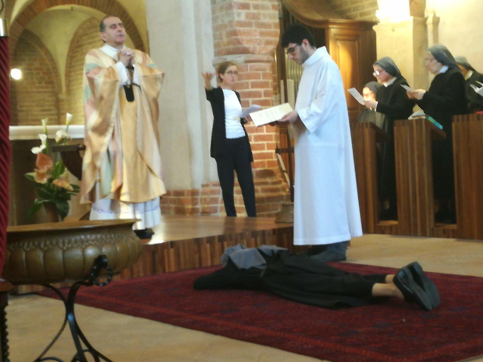 A Viboldone Benedizione Abbaziale a Madre Annamaria Pettoni