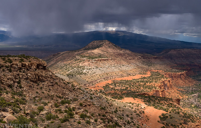 Rain Surrounding Triangle Mesa